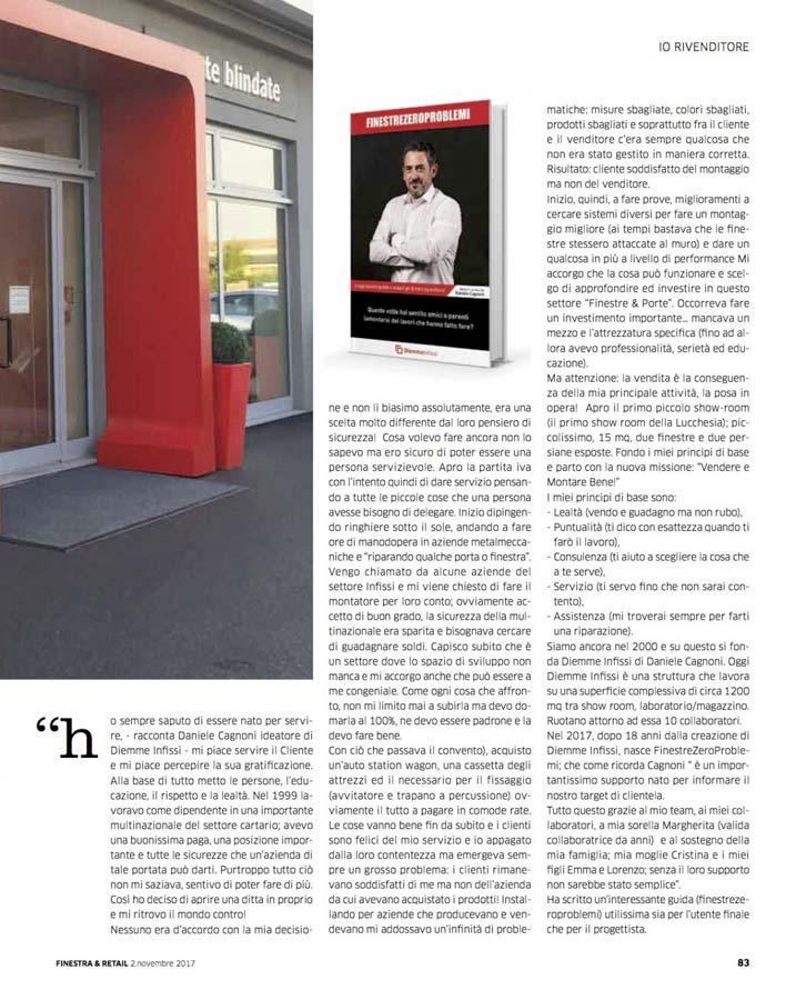 Rivista Finestra&Retail - Show room - customer care infissi e serramenti - porte e finestre