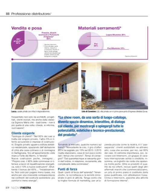Pagina rivista Guida Finestra - Manutenzione in abbonamento porte