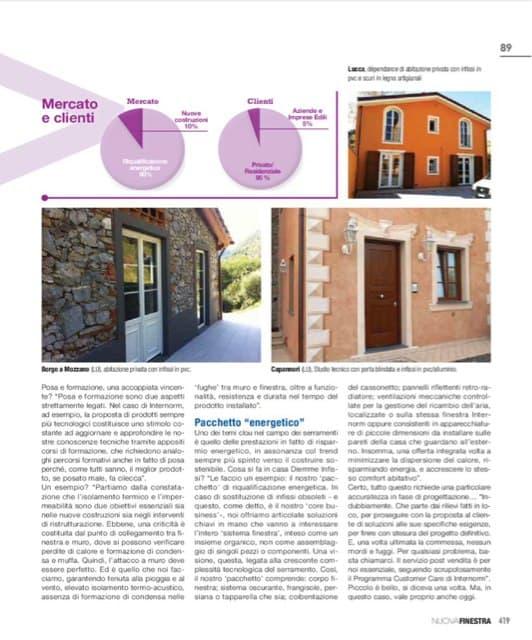 Pagina rivista Nuova finestra manutenzione in abbonamento finestre