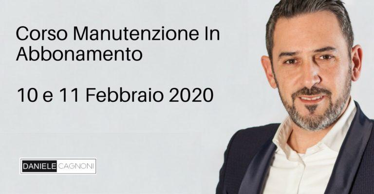 Corso Manutenzione in abbonamento di Daniele Cagnoni in collaborazione con Guido Alberti